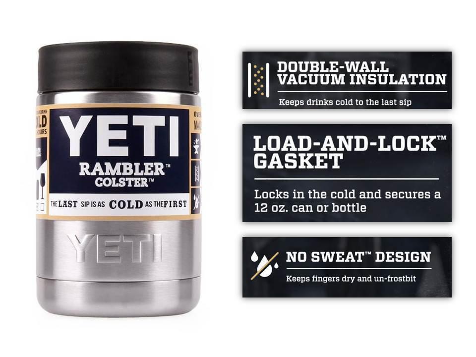 Yeti 12 oz Coster Rambler Cooler Beer Insulator...