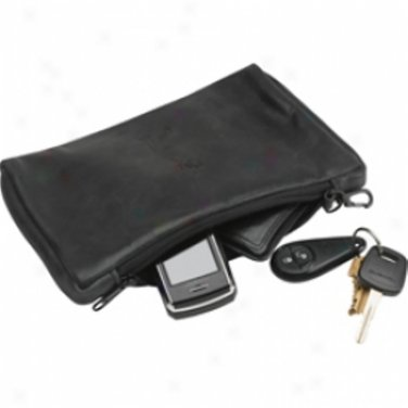 Leather Personalized Valuables Pouch