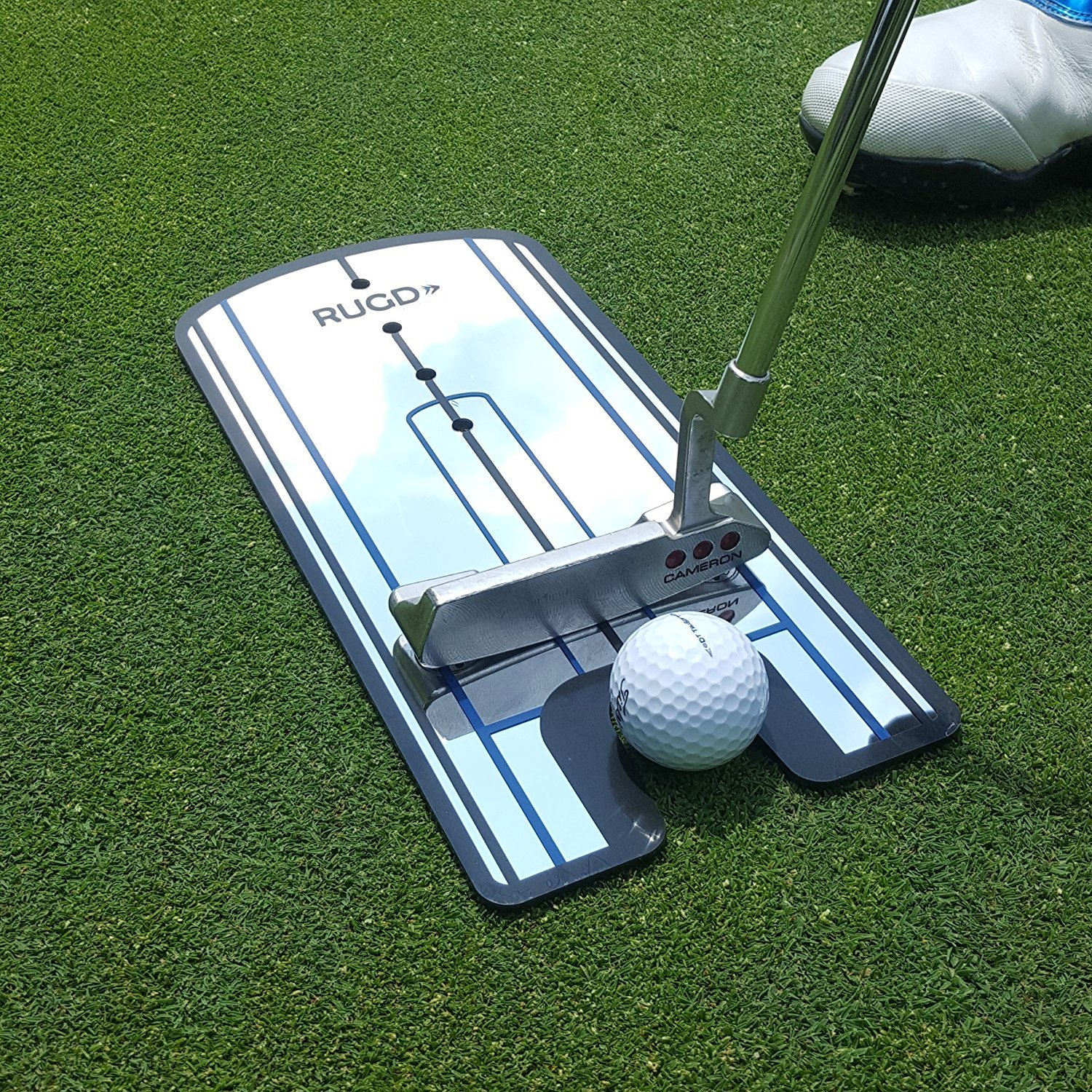 Putting Alignment Mirror - With 6-inch Tempo Drawback Marker