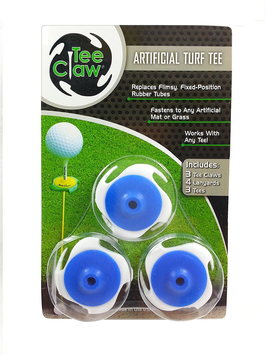 Artifical Turf Tee (3 Pak) Great at Driving Ranges