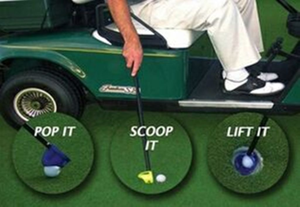 Scramble Caddy: Golf ball Scoop and water scoop