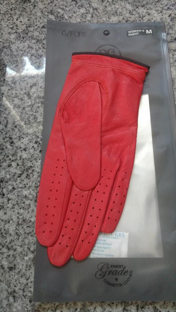 G/Fore Women's Right Handed Golf Glove (POPPY)(MED)