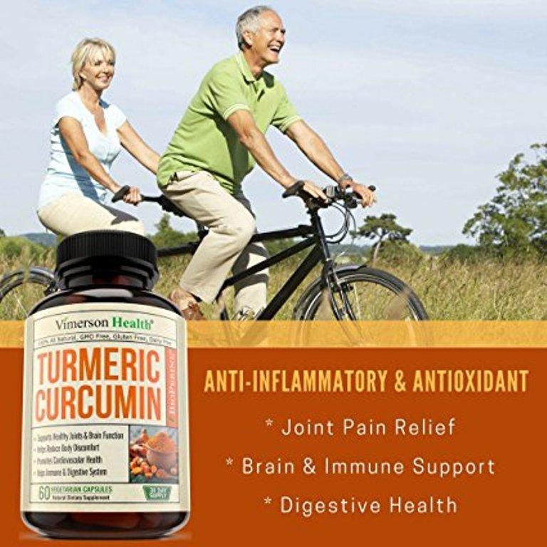 Turmeric Curcumin with Bioperine Joint Pain Relief - Anti-Inflammatory, Antioxidant Supplement