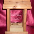 Memorial Laser Engraved Cedar Bird Feeder