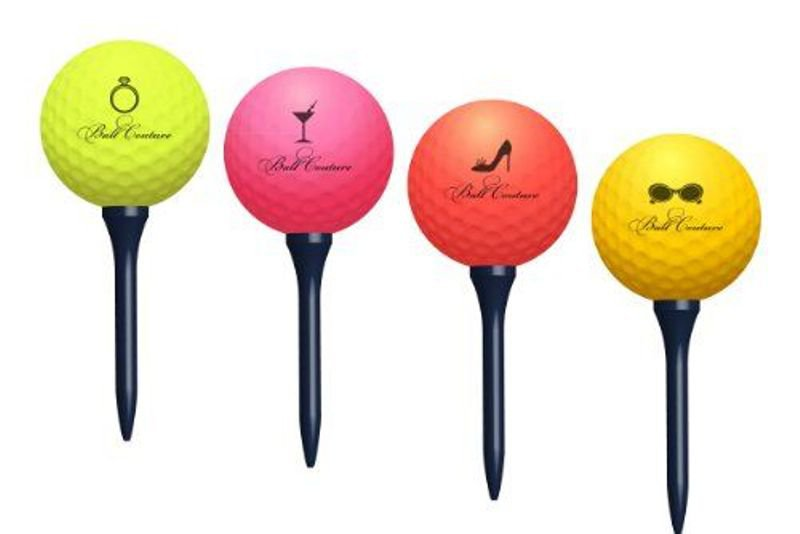 Couture Golf Balls (4 balls) Colored balls for Women!!