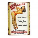 Nice Man Cave Meta Sign  12 x 8 inches