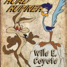 "Roadrunner & Wile E. Coyote Metal Sign  16"" x 12.5"""