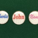 Personal Colored Golf Ball Markers: THREE