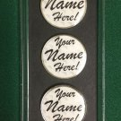 Personal Golf Ball Markers: THREE