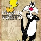 Sylvester & Tweety Bird Metal Sign 13 x 16 inches