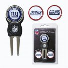 NY Giants Divot Tool Pack With 3 Golf Ball Markers