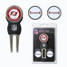 Tampa Bay Buccaneers Divot Tool Pack With 3 Golf Ball Markers