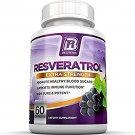 BRI Nutrition Resveratrol : Helps with Cardiac & Immune Health 60 pills