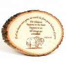 5 x 7 inch Bark Rustic Wooden Plaque