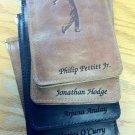 Personalized Full Grain Leather Golf Scorecard Holder