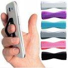 Colored Finger Grip Cel Phone Holders.. (2 holders) ( NOT SAME COLOR)