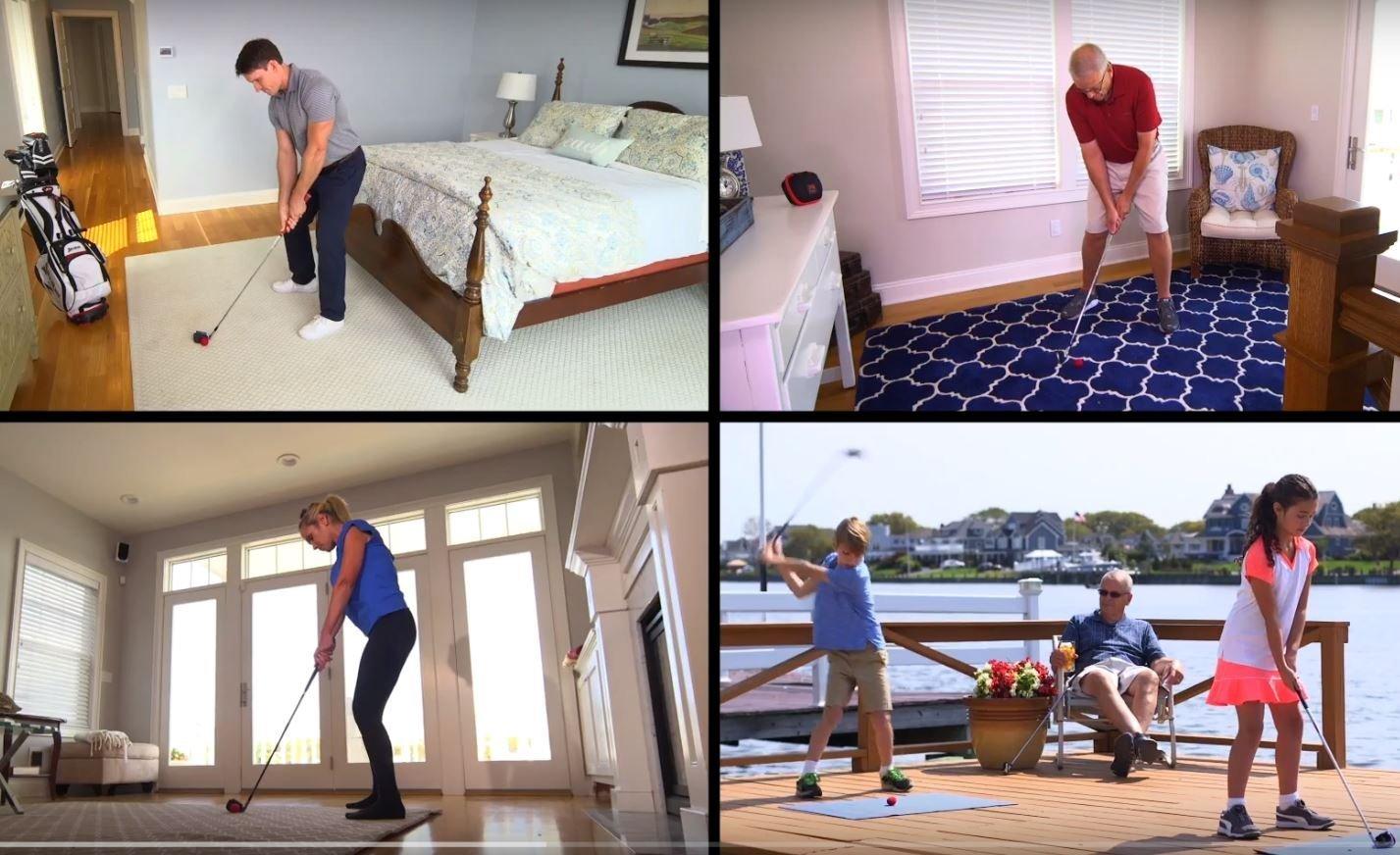 IMPACT IMPROVER Golf Swing Indoor Training Aid..Practice Golf Indoors..