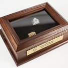 Championship Ring Box with Engraved Metal Plate (gold or Silver)