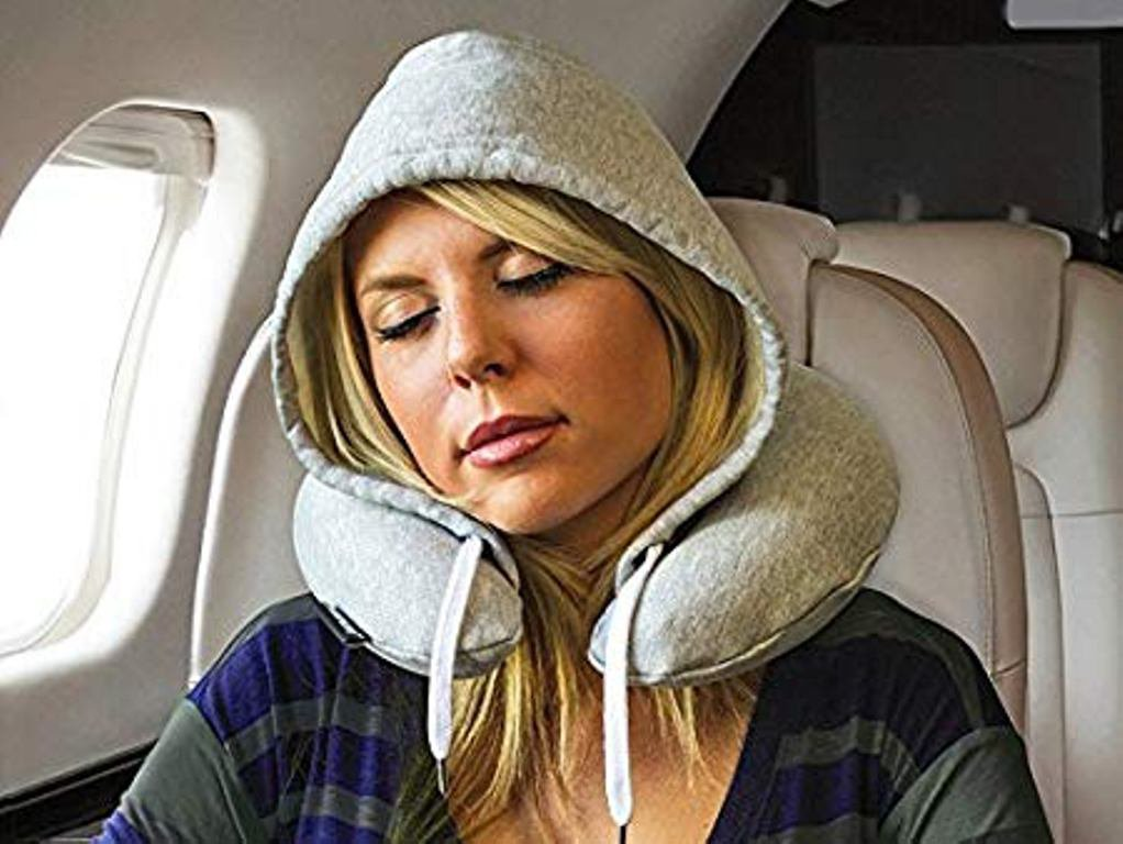 Hooded Travel Pillow (Great for Travelers) With Memory Foam Softness