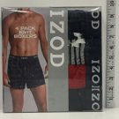 IZOD Mens Cotton Knit Boxers 4-Pack ( LARGE-36-38 INCHES)