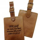 Personalized Leather  Luggage Tags (1) Rectangular