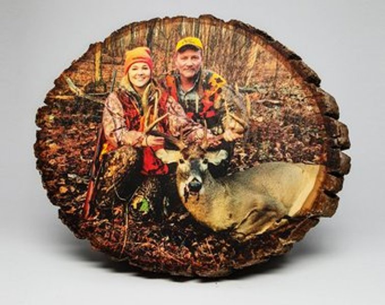 Custom Photo on Round Bass Wood  8 x 10