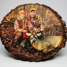 Custom Photo on Round Bass Wood  8 x 10