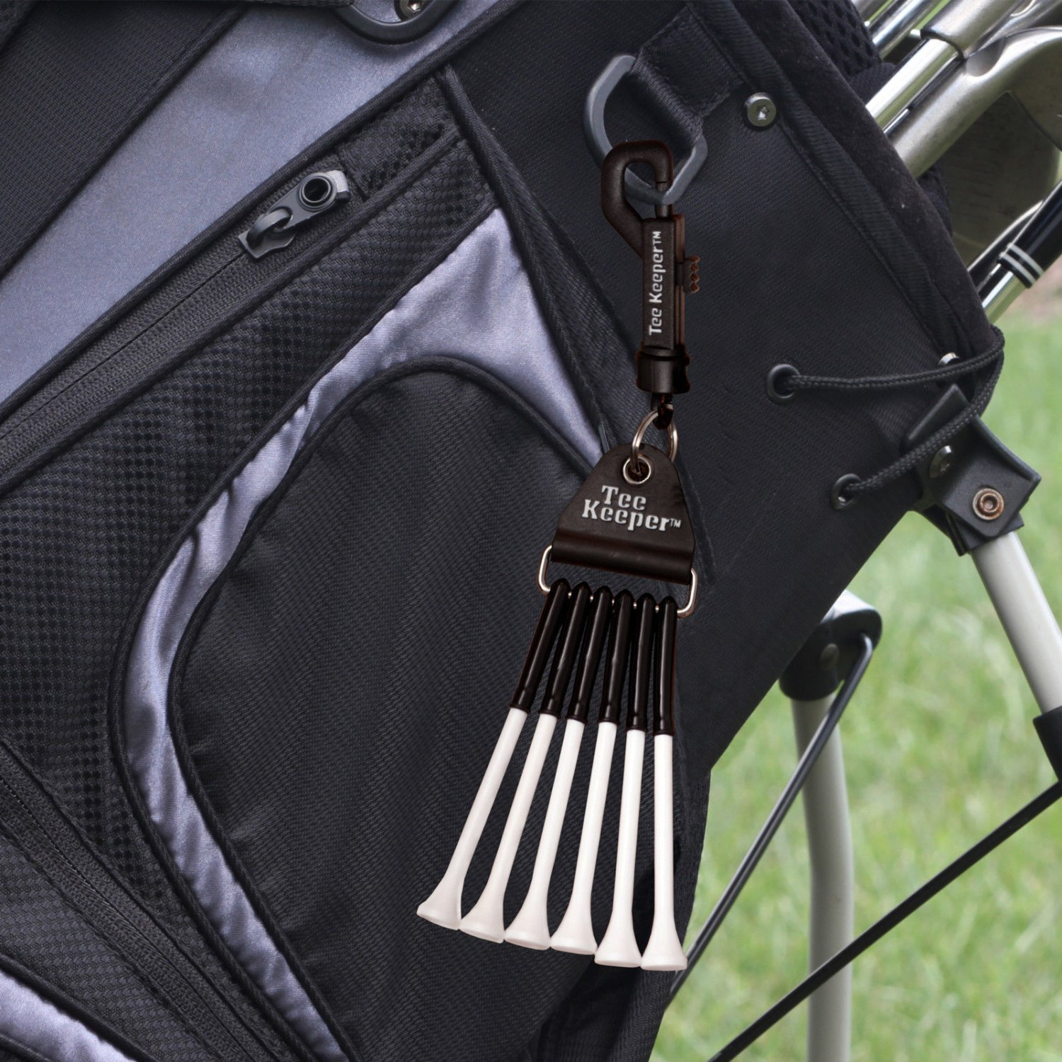 The Tee Keeper® provides quick and easy access to your golf tees