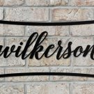 Personalized Outdoor Metal Name Sign