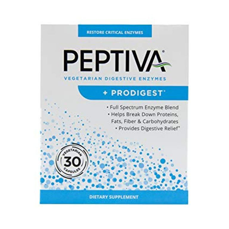 � Peptiva Digestive Enzymes + ProDigest - Digestive Support  (30 caps)