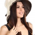 UV Protection Sun Hat with Neck Flap & Chin Strap (Natural)