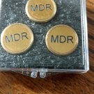 Engraved Brass Golf Ball Markers (3)