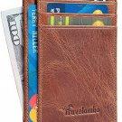 Front Pocket Minimalist Leather Slim Wallet RFID Blocking Medium