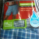 Hanes Men's 5-Pack Tagless, Tartan Boxer with Exposed Waistband  (Large)