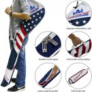 USA Flag Club Case Sunday Bag Red White and Blue