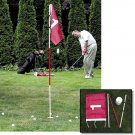 Backyard Flagstick and Golf Cup | Steel Pole Sections Pin Flag Stick