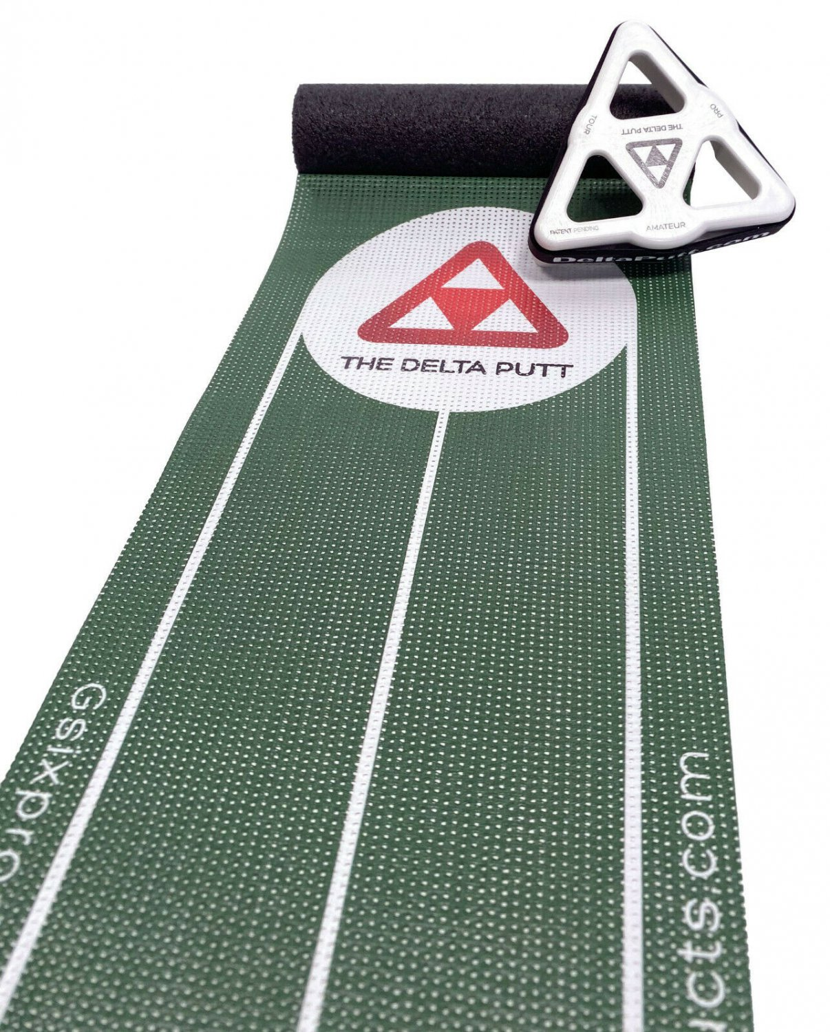 The Delta Putt | Golf Putting Training Aid Practice Mat Puck Game