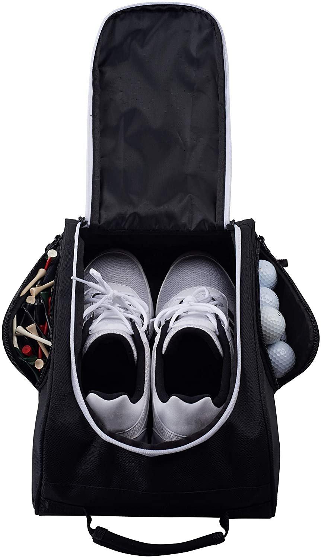 Athletico Golf Shoe Bag - Zippered Shoe Carrier Bag