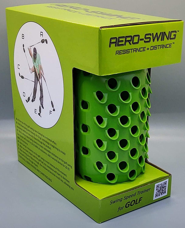 AERO-SWING (1) Green - Revolutionary Swing Speed Trainer - HIT Golf Balls While Training!!!