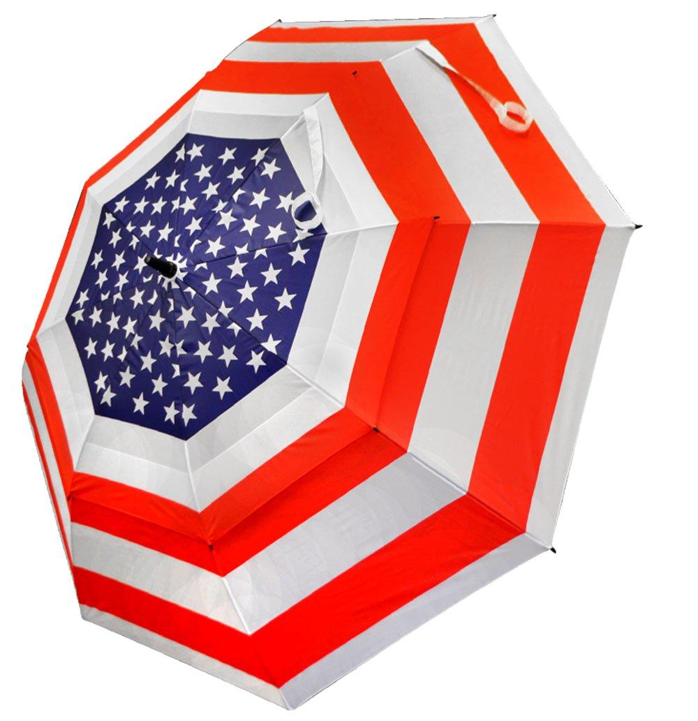 """USA Umbrella: .           62"""" premium golf umbrella  for maximum coverage"""