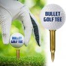 Tactical Golf Tee - Set of 10 Bullet Shaped Golf Tees
