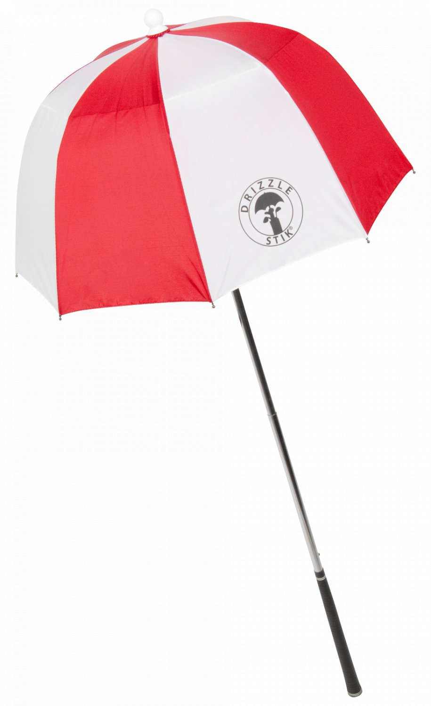 Drizzle Stik Flex Golf Gear Bag Umbrella (red)
