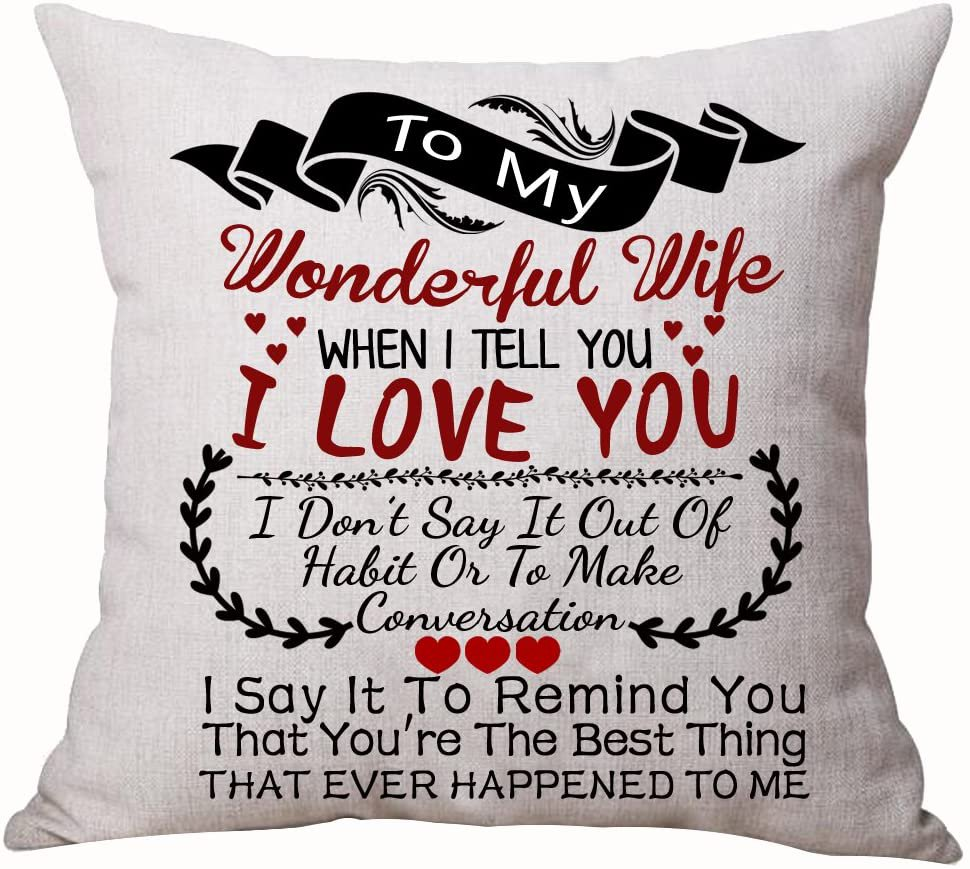 Wife I love you Pillow...