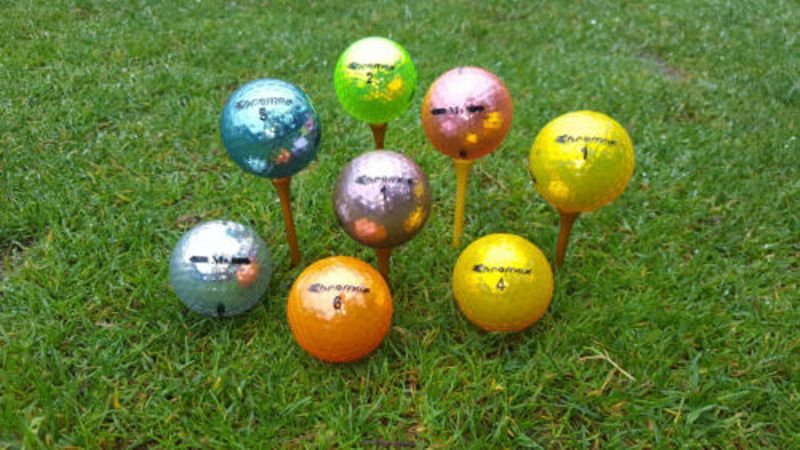 6 Chromax multicolored golf balls.....SIX ONLY