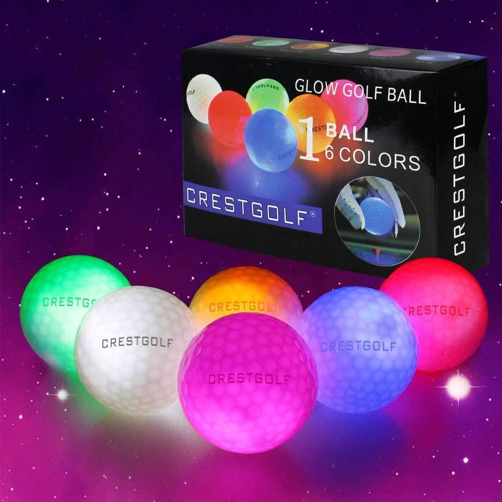 Glowing Golf Balls Night Glow Flash Light up LED Golf Balls (3 Golf Balls)