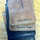 FULL GRAIN Leather Golf Score Card Holder: Personalized for You...
