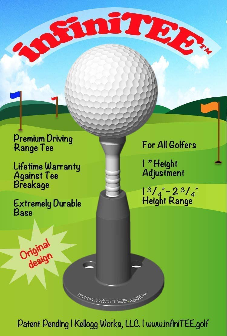 infiniTEE New Golf Product 2021. Height Adjustable Driving Tee