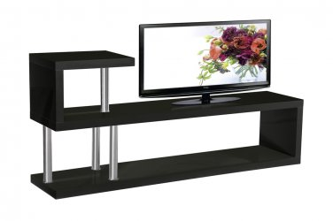 Hollow Core Modern Tv Console (Black)