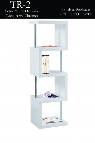 Bookcase 4 Shelves ( 2 Colors) Item: TR2 White