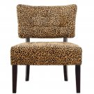 """DS07 """"Tufted"""" Accent Chair (Leopard Print)"""